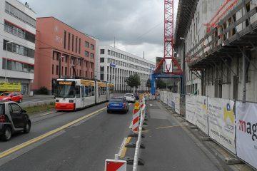 Bingerstraße Baustelle