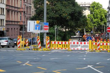 Parcusstraße Baustelle