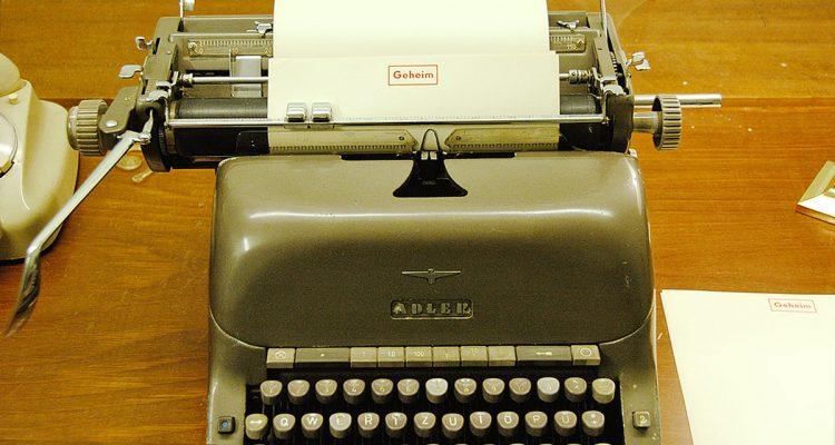 Bunker Schreibmaschine