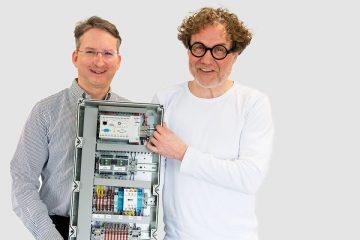 Professor Dipl. Ing. Thomas Giel und Tim Gemünden
