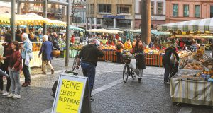 Wochenmarkt Mainz, Corona