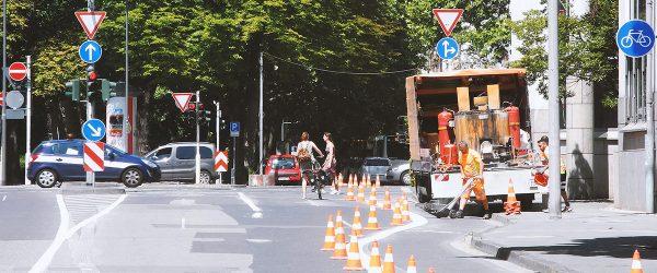 Bauhofstraße Fahrradstreifen