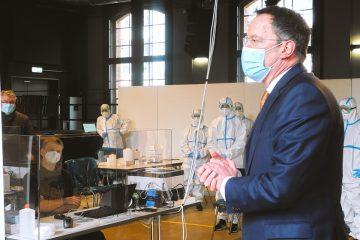 Coronavirus Testzentrum im Mainzer KUZ