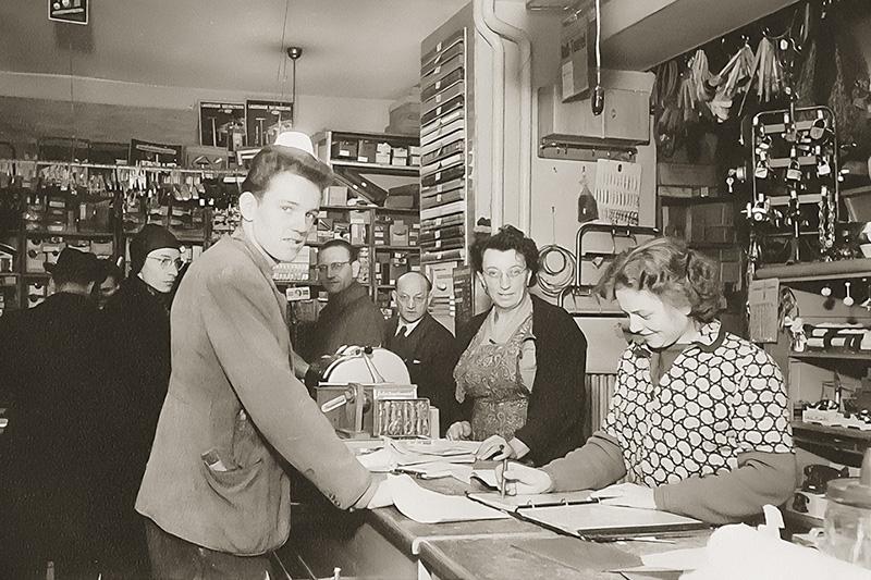 1952 Helga Moritz, betti und Johann Moritz